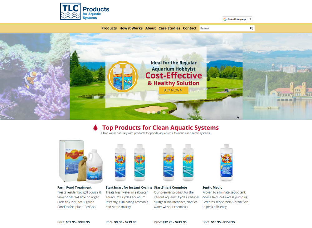 TLC - Products Website