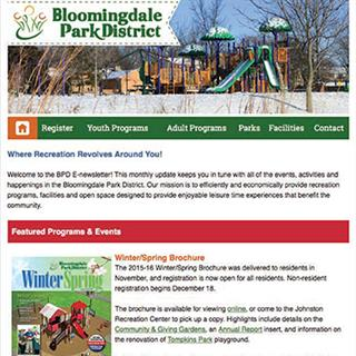 Bloomingdale Park District - eNewsletter
