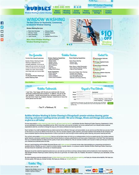 Window Cleaning Responsive Website Design