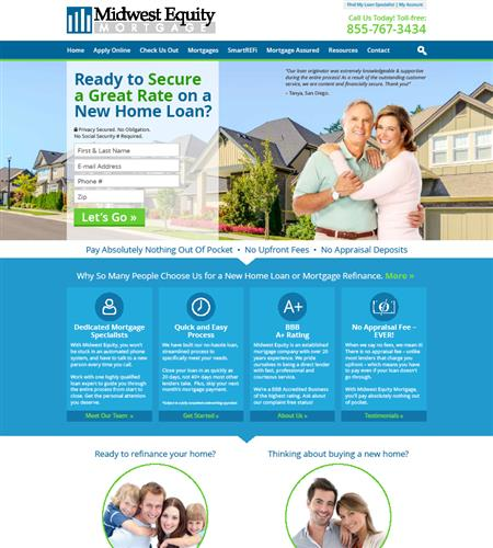 Mortgage Responsive Website Design