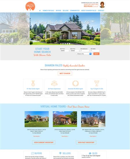 Realtor template website design
