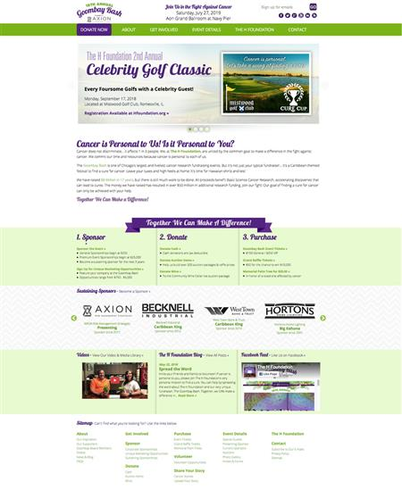 Website for cancer research fundraising event