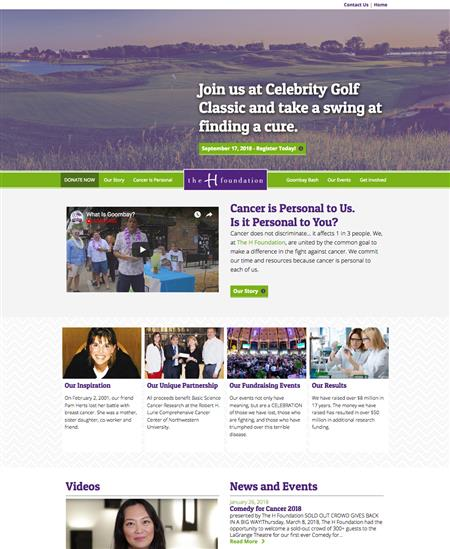 Cancer Research Charity Web Design