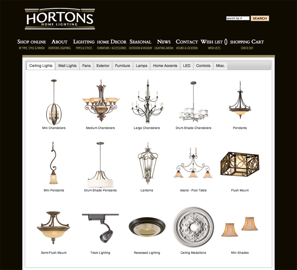 View Hortons Home Lighting Website »