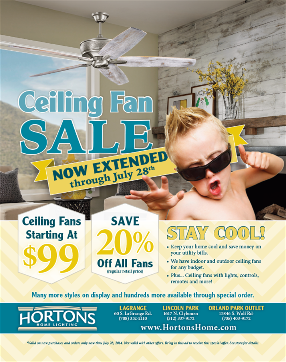 Home Lighting Summer Sale Print Ad