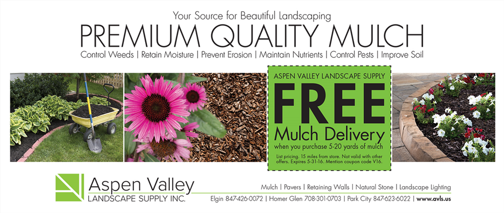 Landscaping Mulch Print Ad - Our Portfolio - Aspen Valley Landscape Supply Inc. - Print Ad - JET
