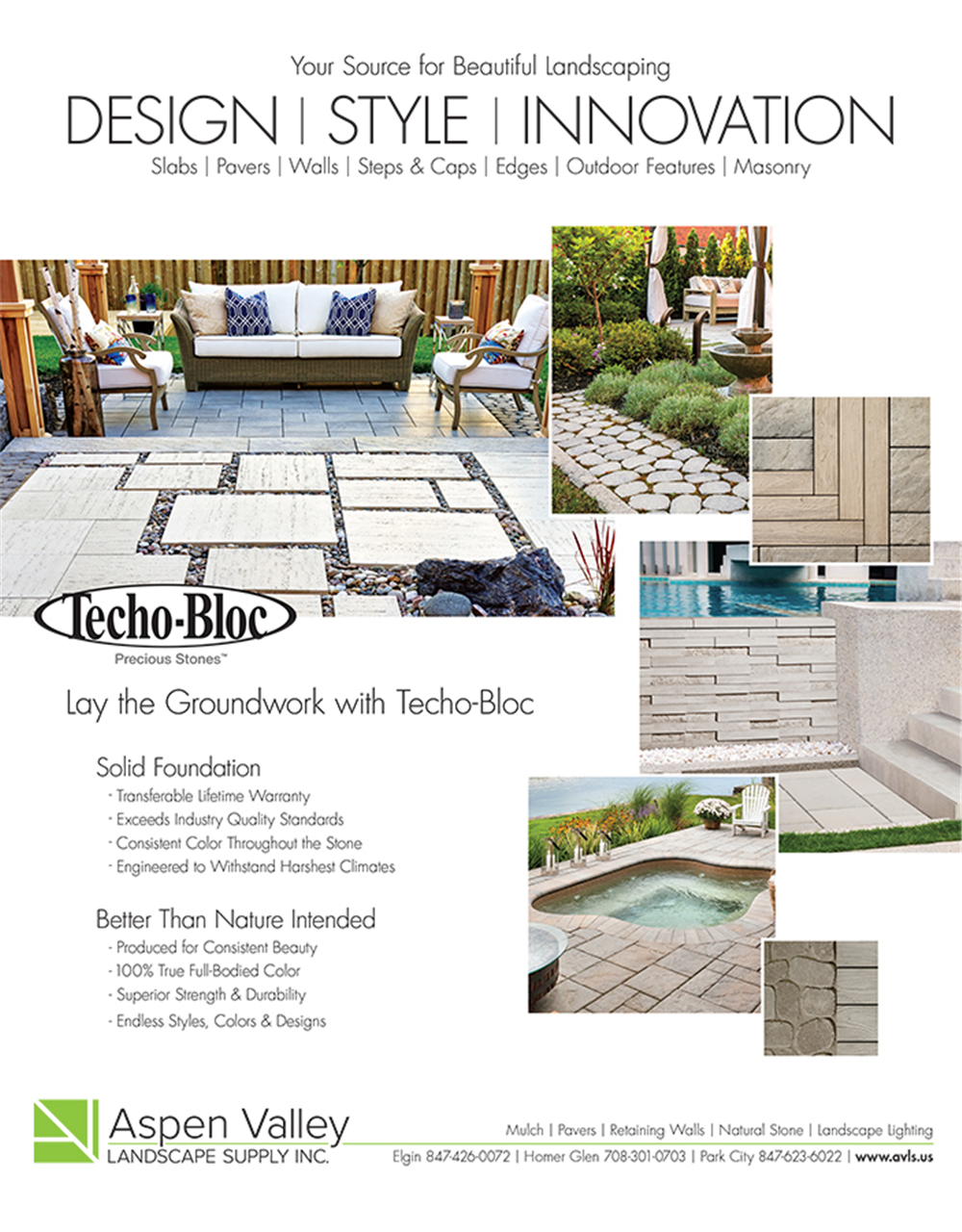 Precious stone pavers print ad - Our Portfolio - Aspen Valley Landscape Supply Inc. - Print Ad - JET