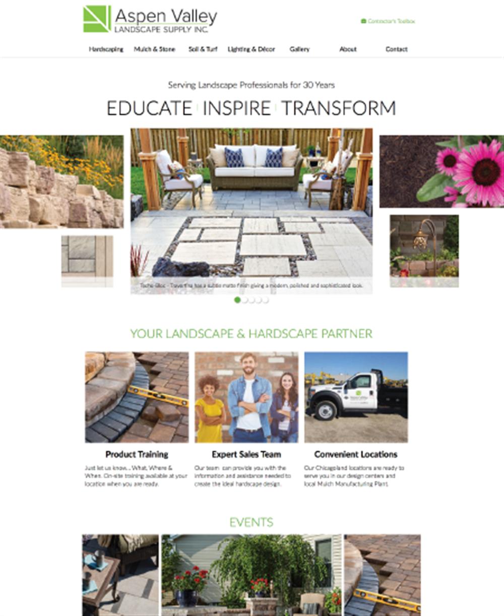 Aspen Valley Landscape Supply Inc. - Website - Our Portfolio - Aspen Valley Landscape Supply Inc. - Website - JET