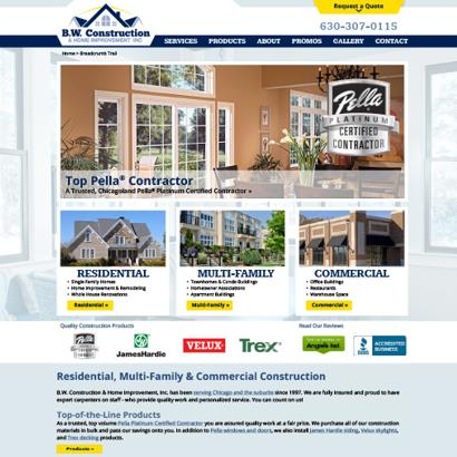 BW Construction - Website